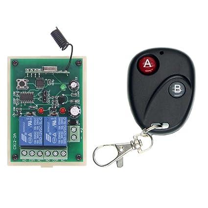 abytele dc 12v 2 ch channel 2ch rf wireless remote control switch rh amazon com