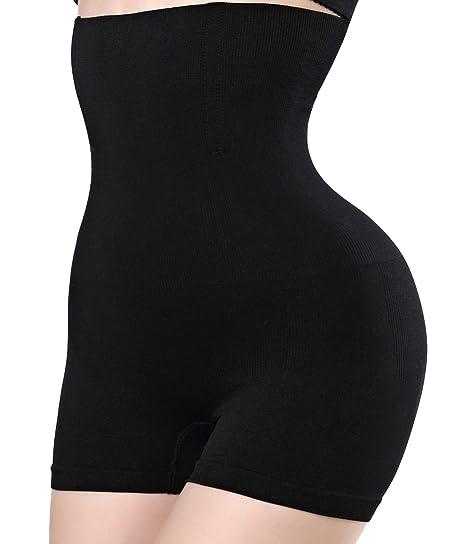 567e0f745 Amazon.com  Women Body Shaper Tummy Control Shapewear High Waist Mid-Thigh  Slimmer Shorts Underwear Butt Lifter Bodysuit Panties (Black