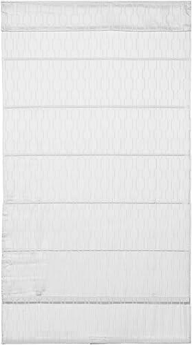 Cordless Utopia Roman Shade White 39 in. W x 64 in. L