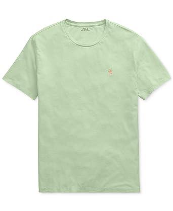 f1eafb7cbbebe RALPH LAUREN Polo Men's Classic Fit Short Sleeve Cotton Jersey Crewneck T- Shirt (Cruise