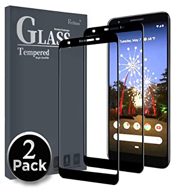 Ferilinso Screen Protector For Google Pixel 3a Screen Protector2 Pack Full Coverage Full Adhesive Glue Tempered Glass Protection Film With