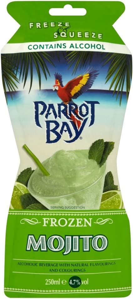 Parrot Bay Mojito Cocktail - Bebida alcohólica con aromas naturales - 250 ml