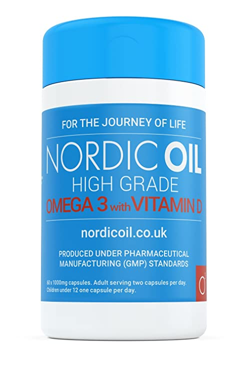 Nordic Oil High Grade Omega 3 with Vitamin D 60x1000mg Capsules