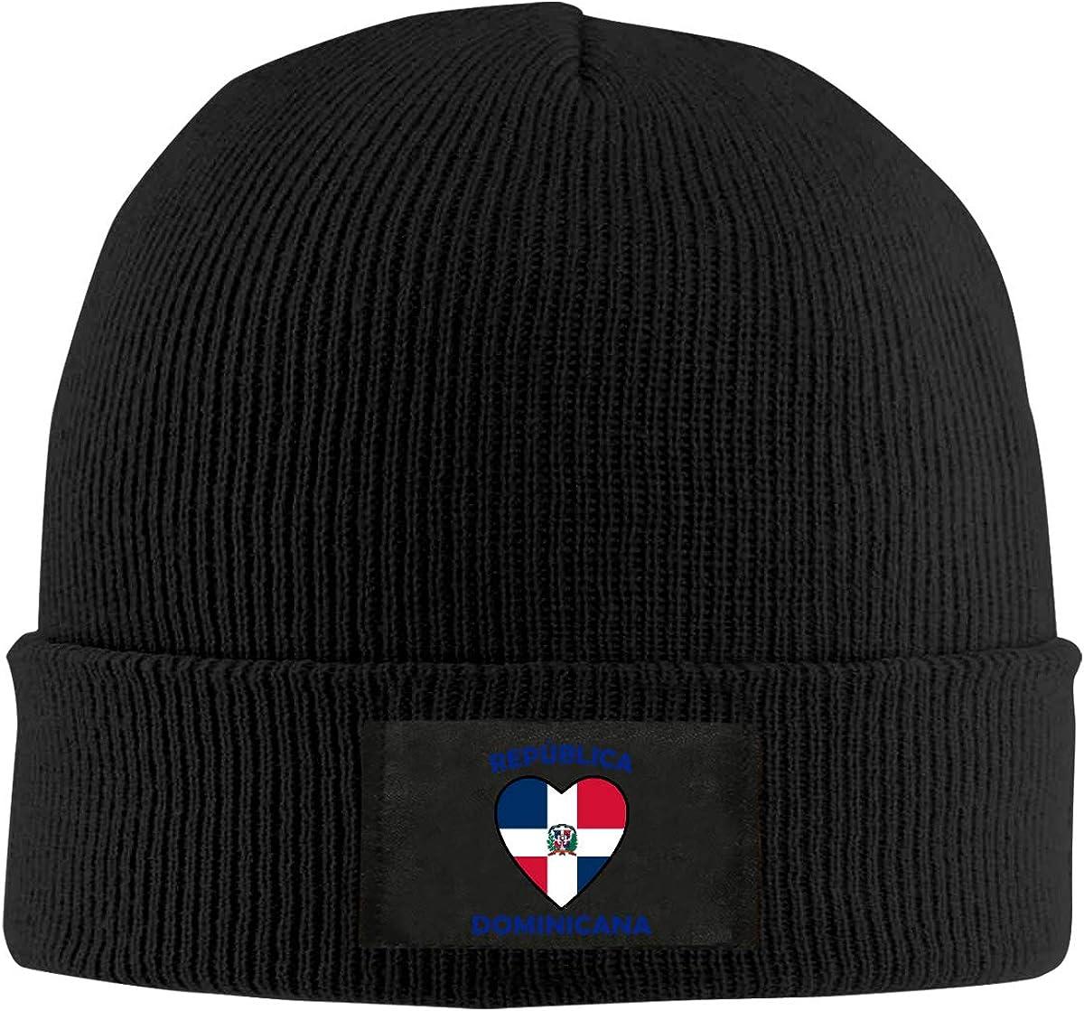 Heart Love Rep/ública Dominican Republic Men Women Knitted Hat Winter Warm Pure Color Hat
