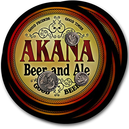 Akanaビール& Ale – 4パックドリンクコースター   B003QXVMPU