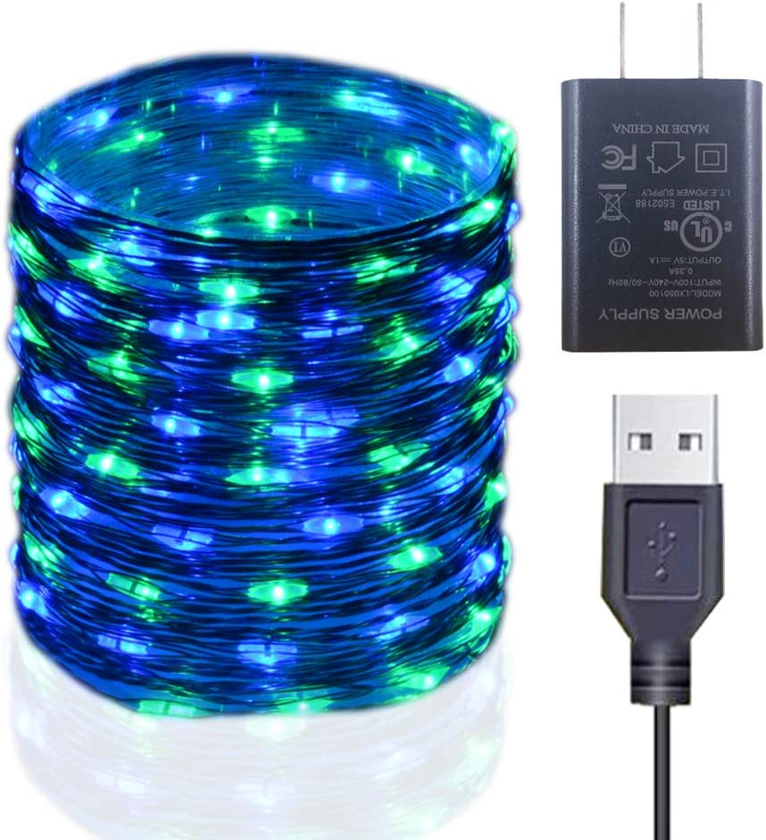 50//100LEDs USB Connector LED Fairy String Party Lights Lamp Xmas Waterproof US