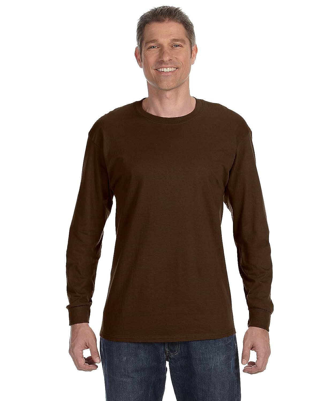 CHOCOLATE Jerzees 5.6 oz. 29L 50//50 Heavyweight Blend Long-Sleeve T-Shirt