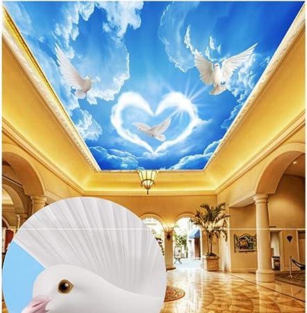 Msyiku Papier Peint En Soie Mur De Plafond 3d Papier Peint