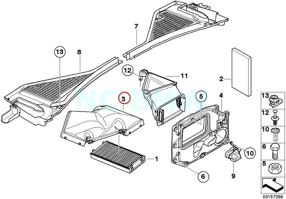BMW Genuine Upper Part Microfilter Housing