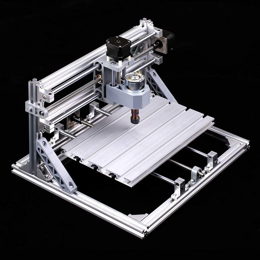 KKmoon CNC3018 DIY CNC Router Kit Mini Incisore 2 in 1 GRBL Control 3 ASSE per PCB PVC Plastica Acrilico Intaglio del Legno Incisione con Macchina ER11 Pinza XYZ Area di Lavoro 300x180x45mm