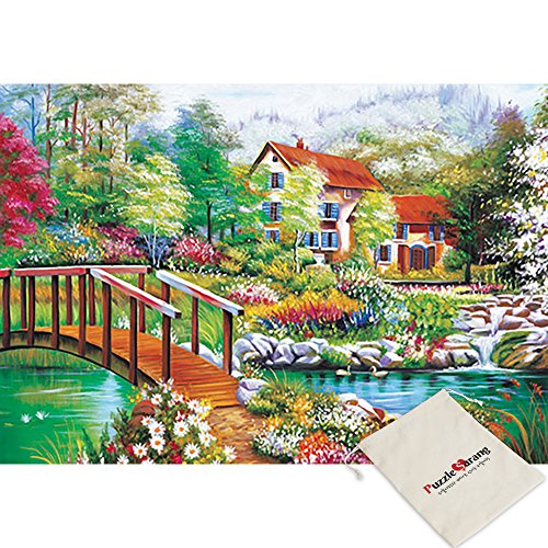 Green 1000 Piece Puzzle - B&N Bien,A Lake Stained With Green - 1000 Piece Jigsaw Puzzle [Pouch Included]