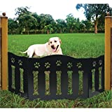 Etna Wooden Paws And Bones Pet Dog Gate - Free Standing Tri-Fold - 19'' Tall 47''