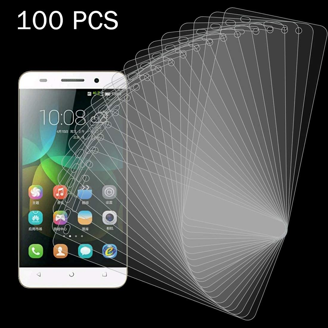 Wangl Mobile Phone Tempered Glass Film 100 PCS for Huawei Honor 4C 0.26mm 9H Surface Hardness 2.5D Explosion-Proof Tempered Glass Screen Film Tempered Glass Film