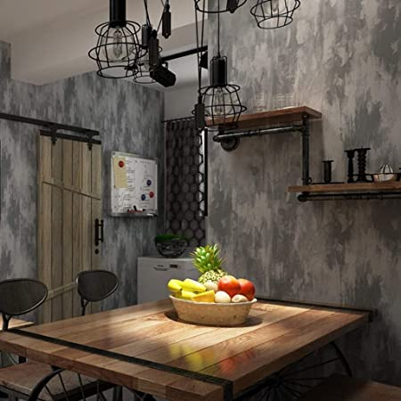 Amhd Papier Peint Tissu Non Tisse Vintage Style Industriel Mur De