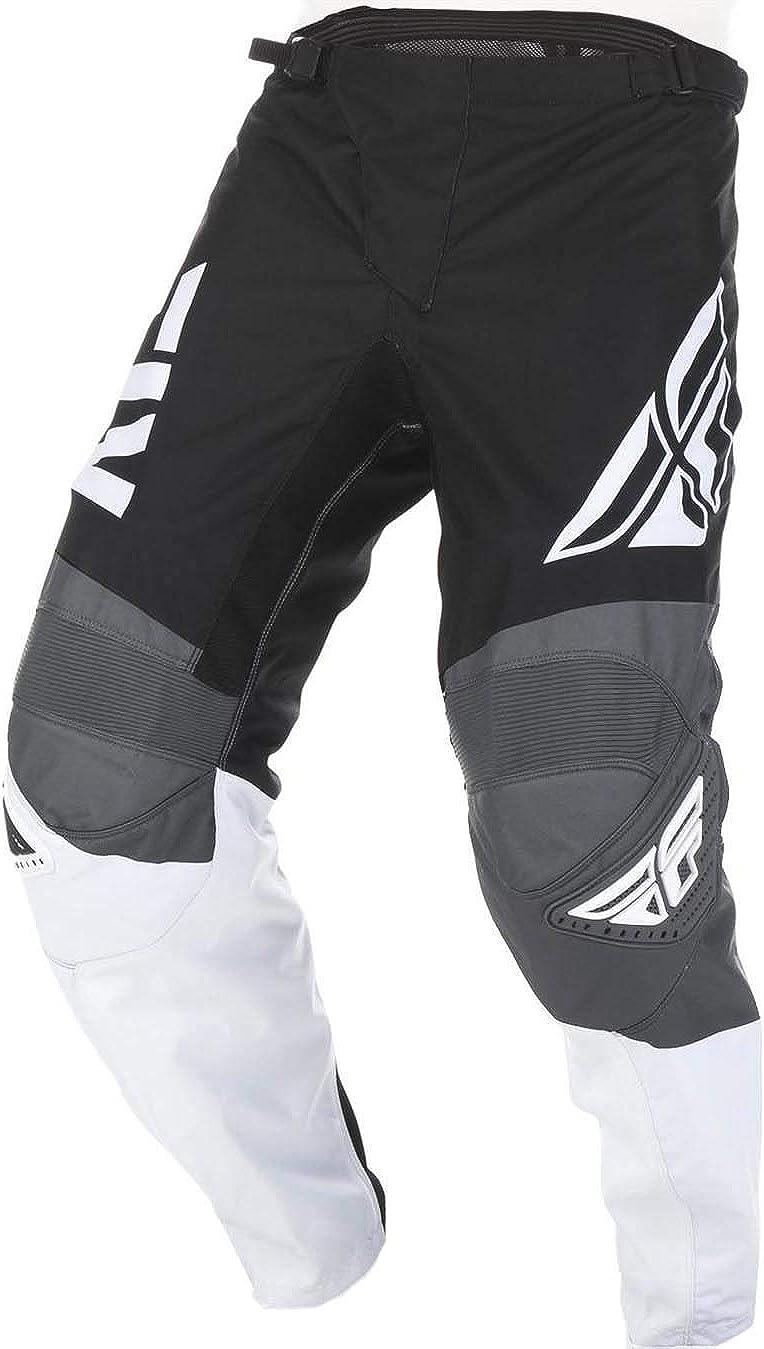 Fly Racing 2019 F-16 Youth Motocross Hose Schwarz Wei/ß Grau 52