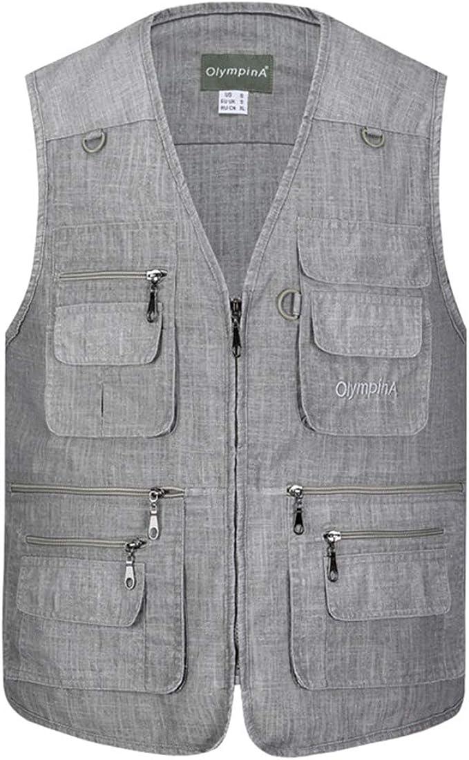 XFentech Mens Winter Gilet Cotton Padded Vest Thicken Zipper Sleeveless Coat