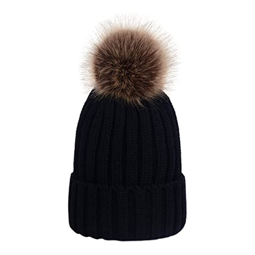 Image Unavailable. Image not available for. Color  Dikoaina Womens Girls  Winter Fur Hat Large ... d26c6182b86