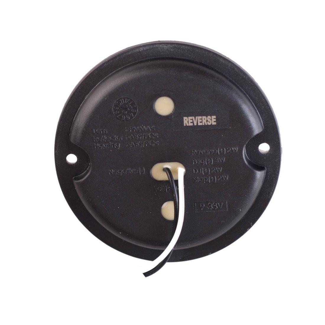 WildAuto 2 pcs Feu arri/ère 15 LEDsInverse Lampe Reverse Indicator WaterProof V/éhicule Lamp pour Remorques Camions Bateaux Caravane etc( Blanc 12V//24V