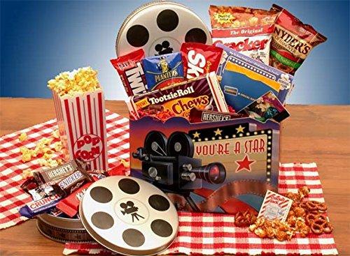 Movie Night Gift Superstar Movie Night Gift Basket w/ Redbox Gift Card