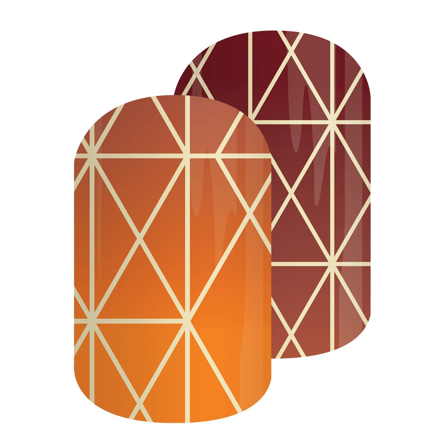 October 2019 Trendy 10 | Jamberry Nail Wraps | Nail Decal | Autumn Seasonal Nail Art Stickers | Perfect Gift for DIY Easy Nail Art (Half Sheet - 1 manicure / 1 pedicure, Stained) by BeneYOU