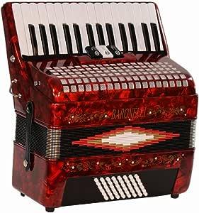 Amazon.com: Baronelli Premium Red 30 Key Piano Accordion ...