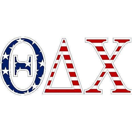 Amazon Theta Delta Chi American Flag Greek Letter Sticker 25