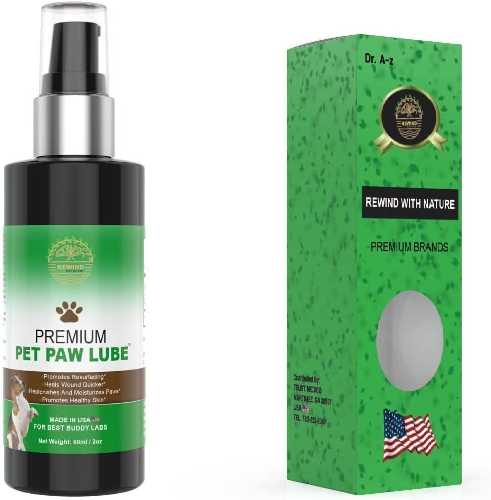 Rewind With Nature dog paw care Oils-blister care dry inflamed paw cracks care natural oils for dry sore paw itchy Skin