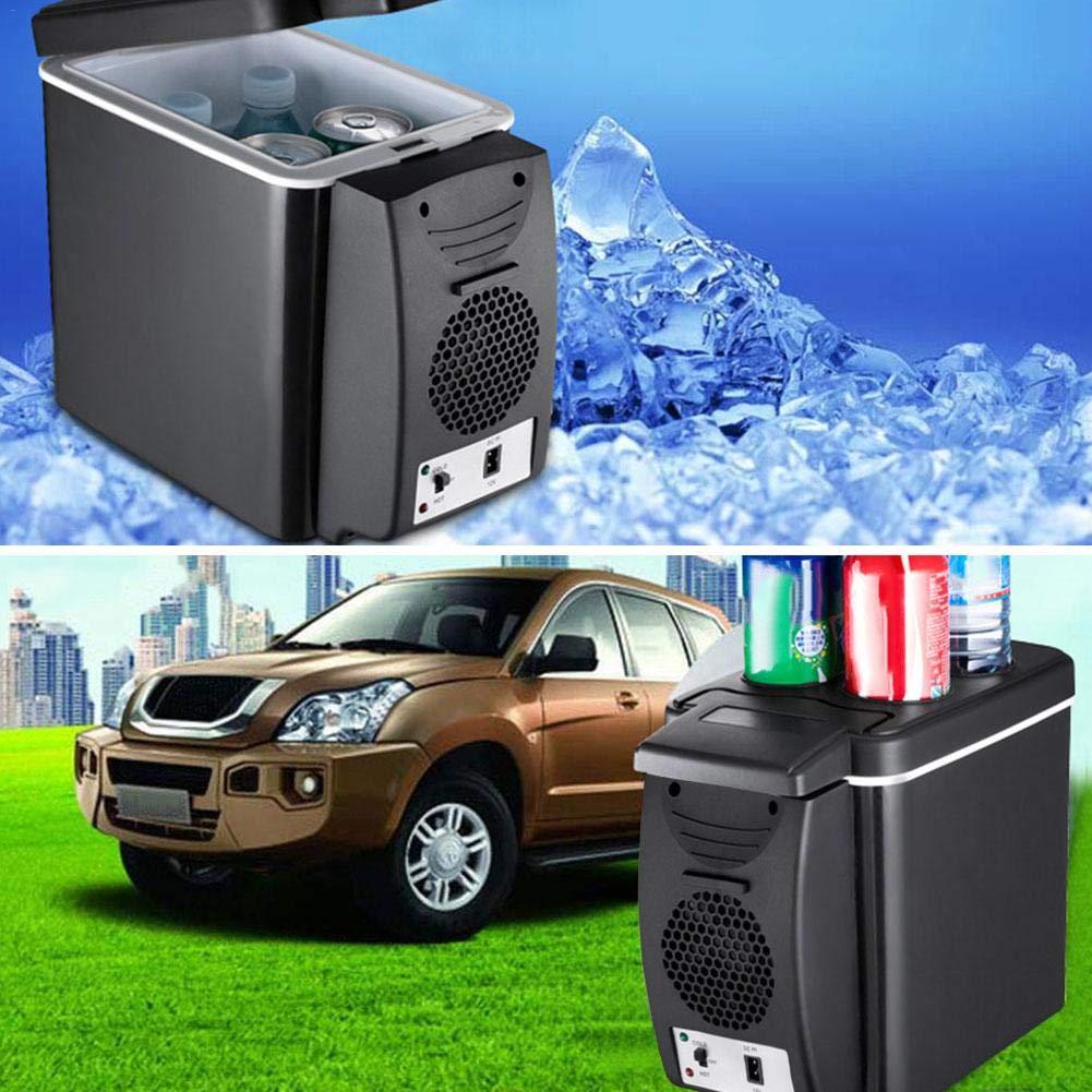 KEIBODETRD 6L Mini Frigorifero Portatile per Auto Frigorifero Leggero a Doppio Uso Contenitore refrigerante per Campeggio Picnic da Viaggio