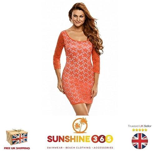 SAUCYUK -  Vestito  - cut out - Maniche a 3/4 - Donna Orange Large