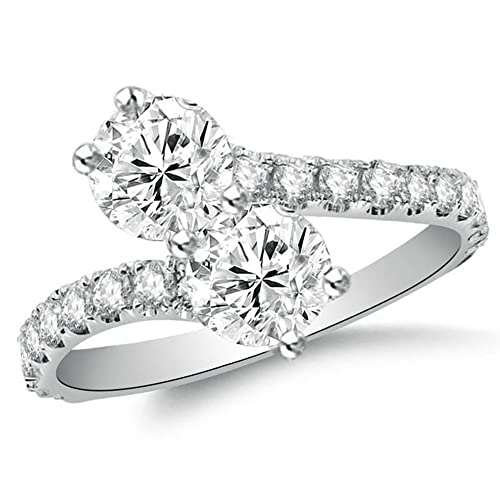 909f1fe035e296 OMEGA JEWELLERY Forever Us 2.96 Ct Round Simulated Diamond Solitaire ...