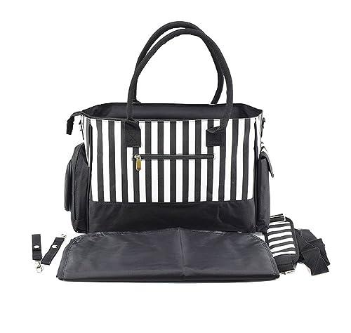 Multifunción Pañal De Bebé Bolsa De Momia Bolso Cambio Impermeable Bolsas Negro