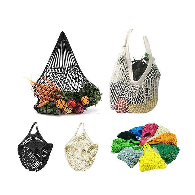 Stonges 4 Pack Reutilizable Malla Algodón Net Market String Bag ...