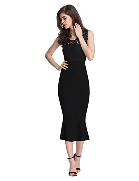 8e5030be759 Sue Joe Women s Mermaid Skirt High Waist Fishtail Hem Plain Bodycon Pencil  Skirts