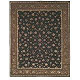 Safavieh TF26A-8 Tabriz Floral Collection Hand-Knotted Purple and Green Silk and Wool Area Rug, 8-Feet by 10-Feet