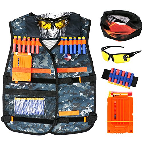 Tactical Vest Kit for Nerf Gun N-strike Elite Series 7 Pack Cool Accessories for Nerf Gun Play