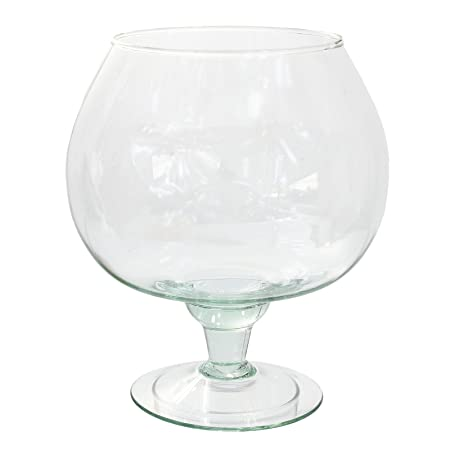 Home Decoration Large Brandy Glass 15 Ltr Bowl Vase Decorative