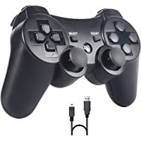 PomisGam Wireless Gamepad for PS3 Controller for Playstation 3 Bluetooth Double Shock Joystick with SIXAXIS,Charge Cord