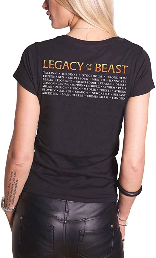 Iron Maiden /'Legacy Of The Beast Tour/' Womens Fitted T-Shirt NEW /& OFFICIAL!