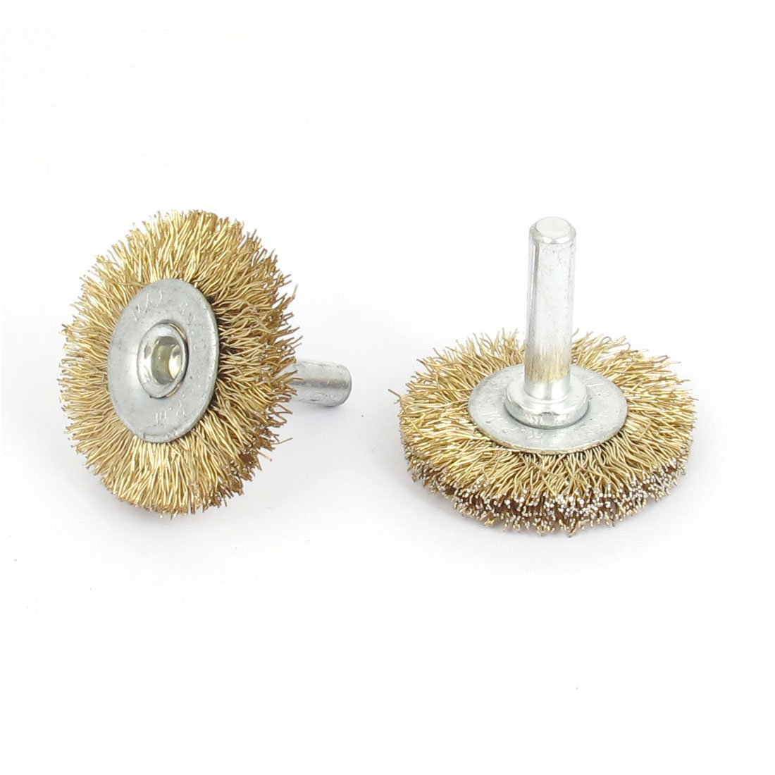 Sourcingmap® 38mm x 6mm Steel Wire Polishing Buffing Wheels Grinding Brushes 2pcs US-SA-AJD-164258