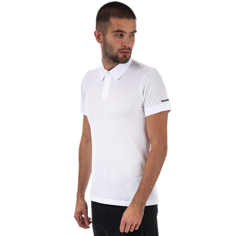 adidas - Polo - para Hombre Blanco Blanco S: Amazon.es: Ropa y ...