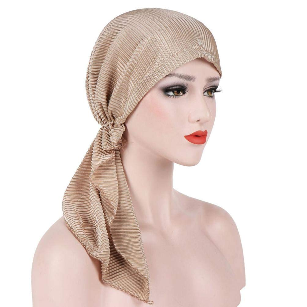 Suma-ma 6 Colors Women's Elegant Stretch - Solid Color Hair Loss Headscarf - Cancer Cap Mother Cap