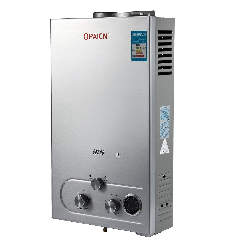 Ukiki Chauffe-eau Portable 6L Chauffe-eau au Gaz de P/étrole Liqu/éfi/é Chauffe-eau 12KW Chauffe-eau Electrique Chauffe-eau Instantan/é au Butane