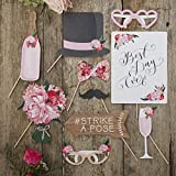 Ginger Ray Vintage Style Wedding Photo Booth Props X 10 - Boho
