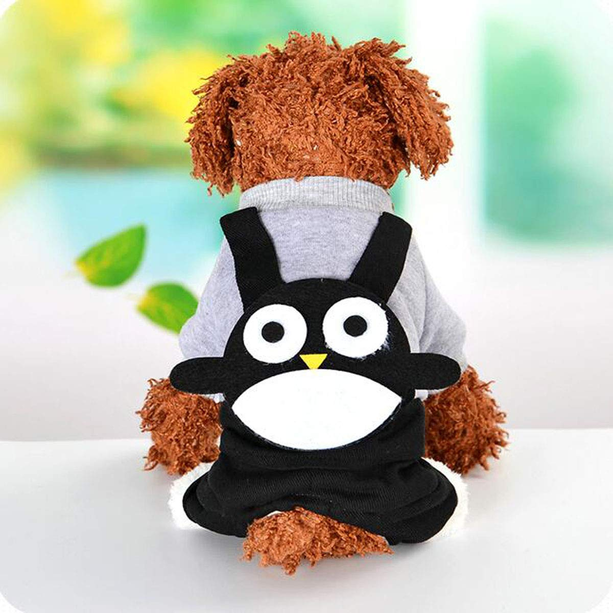 Black S Black S Pet Dog Autumn and Winter Clothes, Small Dogs Warm Clothes, (color   Black, Size   S)