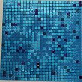 FLEXIPIXTILE, Modern Aluminum Mosaic Tile, Peel & Stick, Backsplash, Accent Wall,1 sq.ft,ATLANTIS