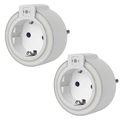 Juego de 2 LED luz de noche con sensor de oscuridad, orientación Luz de emergencia