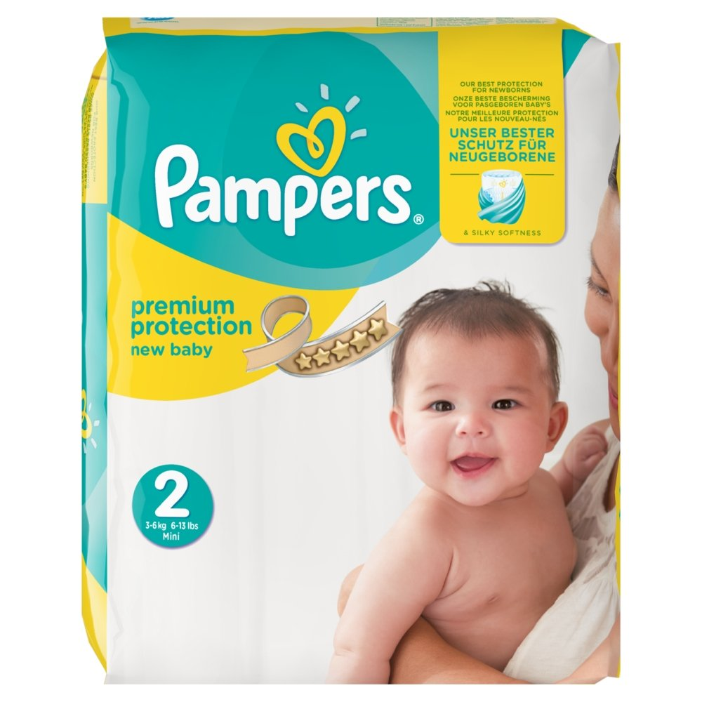 PAMPERS New Baby Taille 2 3-6 kg x54 couches 4015400835646