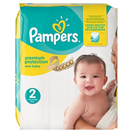 Pampers Premium Protection New Baby Pañales, talla 2 (3 – 6 kg),