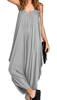 9c8218c321 Ladies Baggy Harem Jumpsuit Romper Sleeveless All in One V-Neck Cami  Playsuit