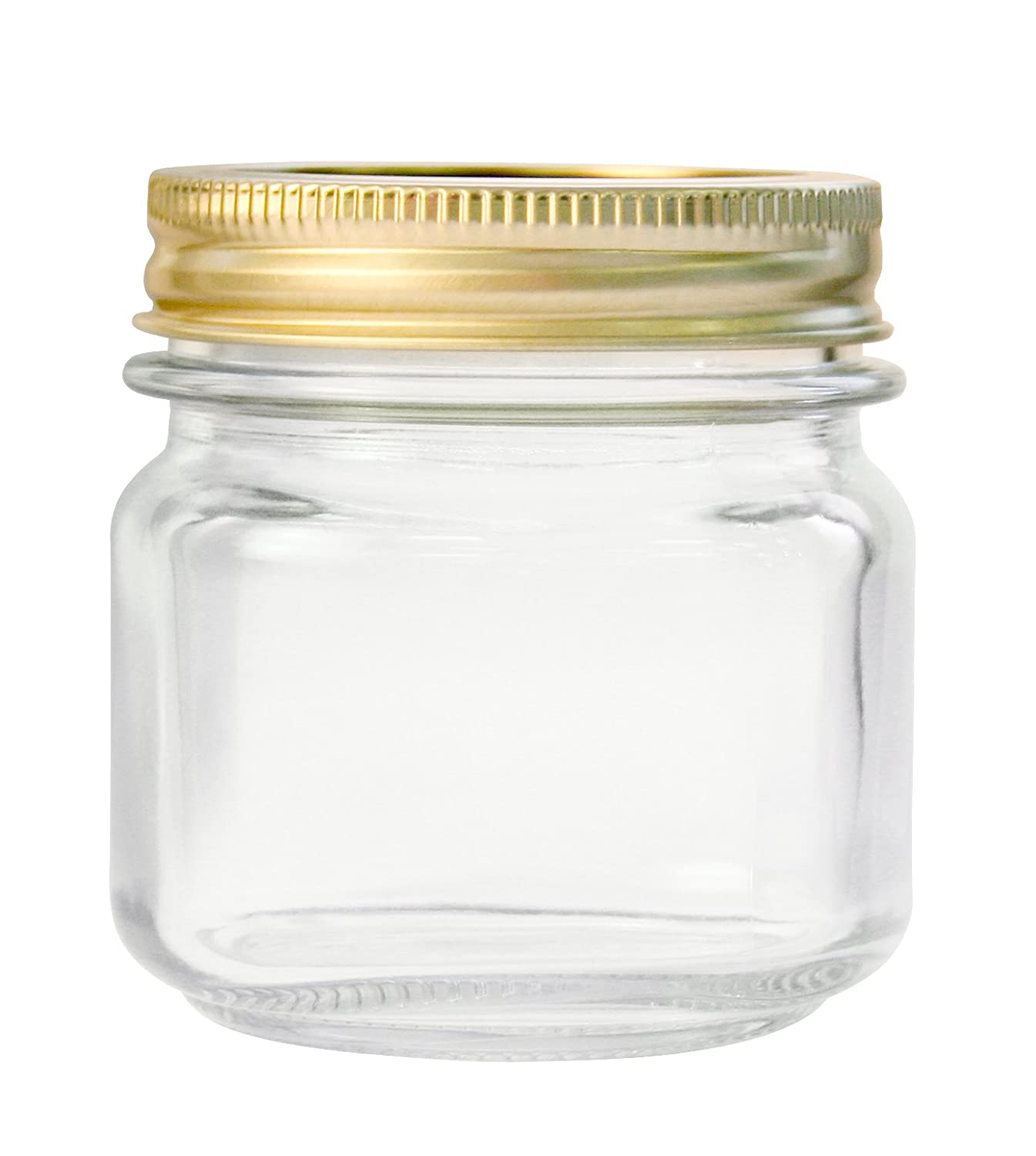 Anchor Hocking 10984 10984AHG17 1/2 Pint Home Canning Jars with Metal Lids and Rings Clear